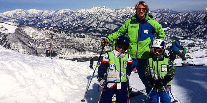 private ski lessons for children in japan
