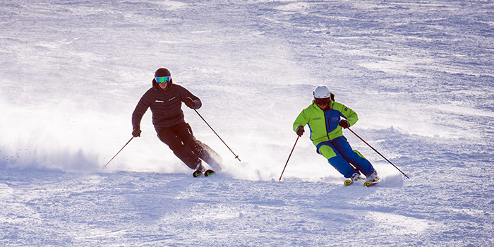 private ski lessons on happo-one
