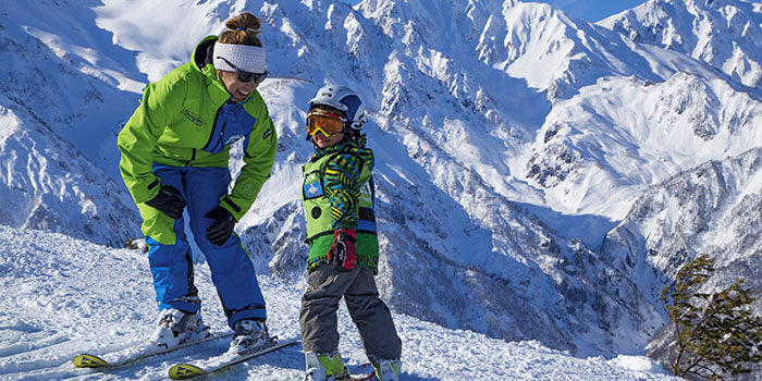 private ski lessons for children in hakuba