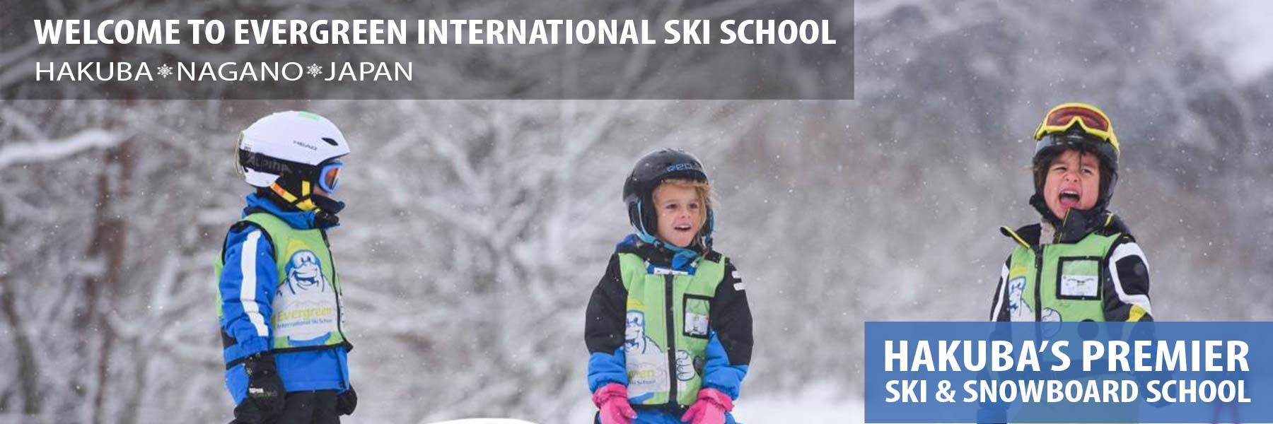 hakuba ski school header - kids lessons