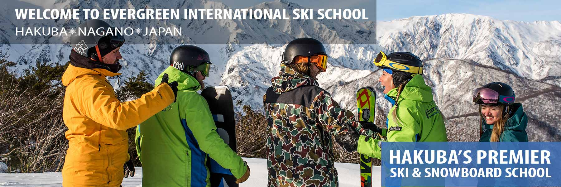 hakuba ski school header - group snowboard lessons