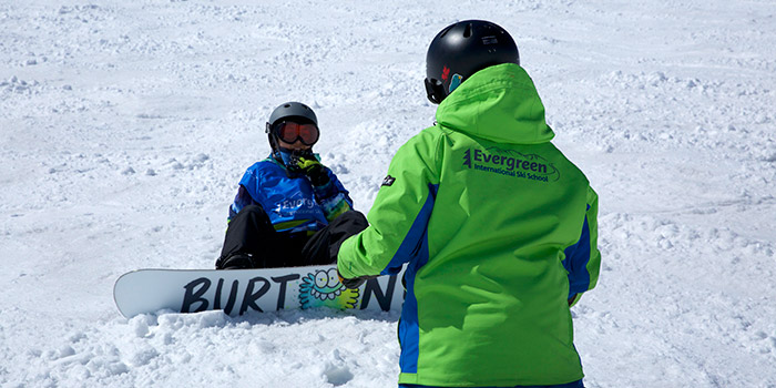 snowboard lessons in cortina